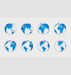 Earth globe 3d realistic world map globes vector