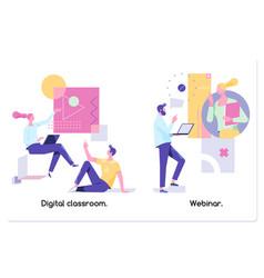 educational web seminar internet classes vector image