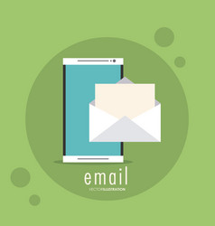 Envelope smartphone email message mail icon vector