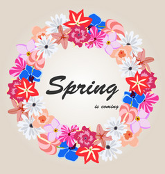 floral of spring background vector image