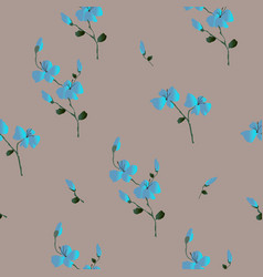 Floral seamless pattern classic blooming leaves vector