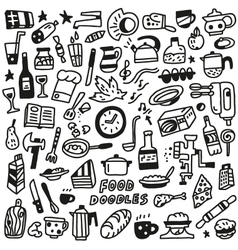 Food - doodles vector