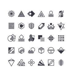 geometric shapes and symbols geometrical vector image
