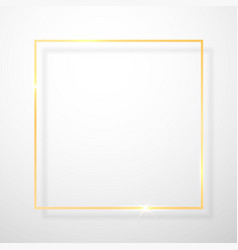 Gold shiny glowing vintage frame with shadows vector