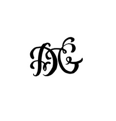 Hand drawn letters d and g for wedding logo vector