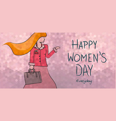 Happy womens day everyday business woman design vector
