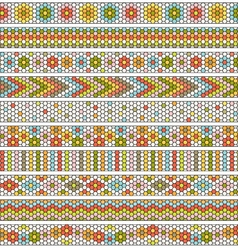 hexagon border patterns vector image vector image