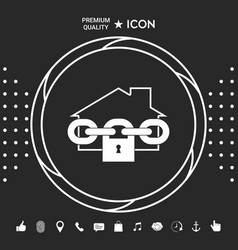 home lock icon graphic elements for your designt vector image