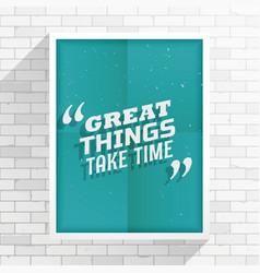 Inspirational quotation vector