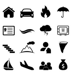 Insurance and disaster icon vector