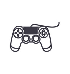 joystick console line icon sign vector image