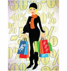 Lady shopper vector