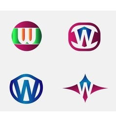 Letter W Logo alphabet design element vector image
