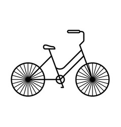 line icon bicycle vector image