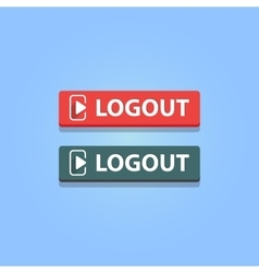 Logout button vector