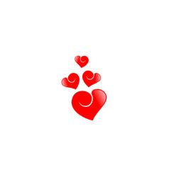 Love heart symbol vector
