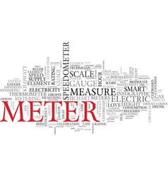 Meter word cloud concept vector