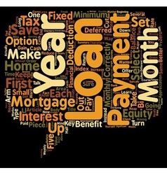 Mortgage Loans What s The Catch text background vector image