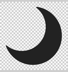 Nighttime moon icon in flat style lunar night on vector