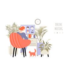 online meeting concept vector image