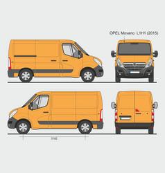 Opel movano cargo delivery van 2015 l1h1 vector