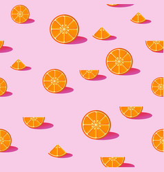 Orange fruit seamless pattern background vector