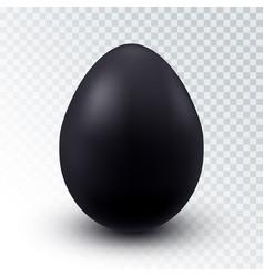 realistic black chicken egg vector image