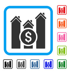 realty price charts framed icon vector image