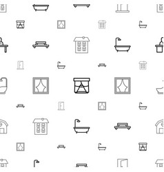 room icons pattern seamless white background vector image