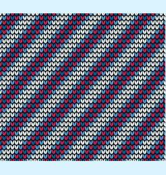 seamless blue diagonal knitting pattern vector image