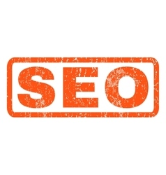 Seo Rubber Stamp vector image