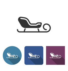 sleigh icon in different variants vector image