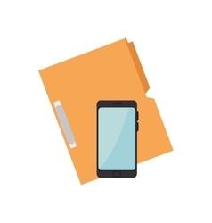 Smartphone and document binder vector