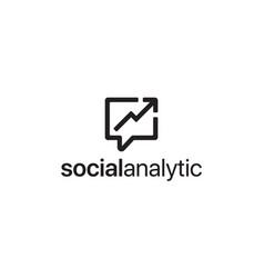 social analytic logo design concept vector image