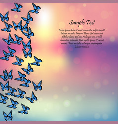 Spring background with butterflies vector
