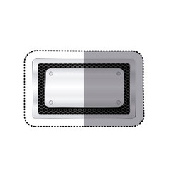 Sticker rectangle grille perforated frame with vector
