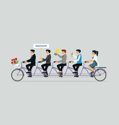Tandem bike ride vector