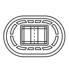 top volleyball arena icon outline style vector image