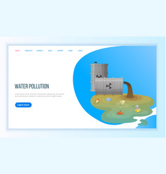 Trash from pipe water pollution tubes vector