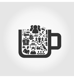 User a cup vector image