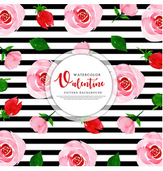 valentine black stripe pattern background vector image