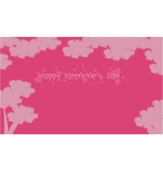 Valentine day landscape with tree backgrounds vector
