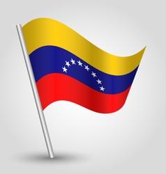 waving simple triangle venezuelan flag vector image