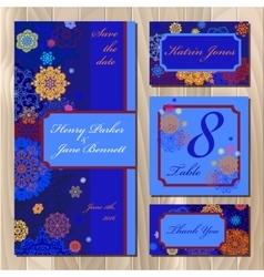 Winter snowflakes wedding card design Printable vector