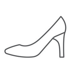 women shoes thin line icon female and footwear vector image