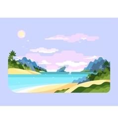 Beach flat design vector image
