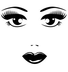 black eyes vector image
