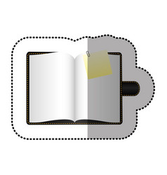 color agenda with big paper note vector image