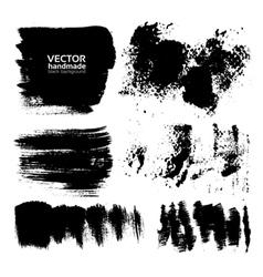 Handdrawing textured brush strokes vector image