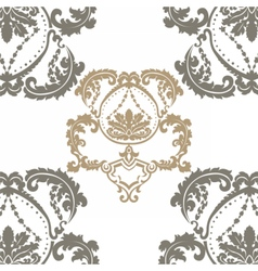 Royal ornament pattern in victorian style vector